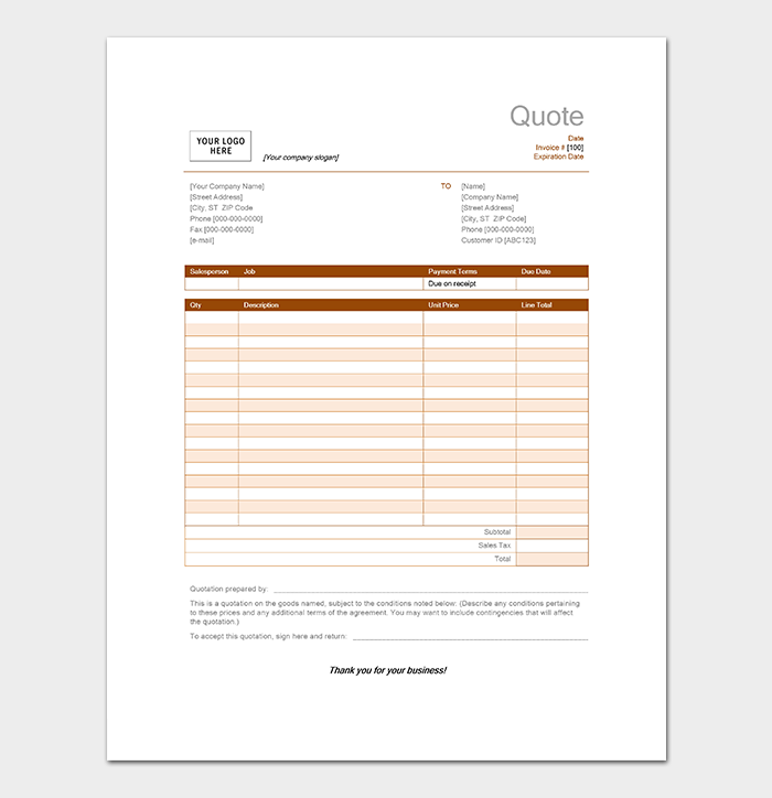 Catering Quotation Template 15 Samples Amp Formats