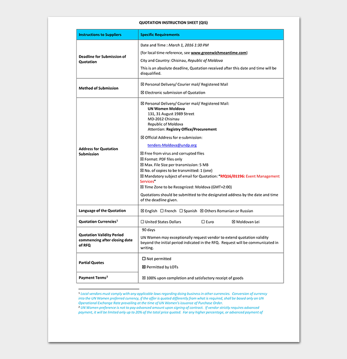 Event Quotation Template , 17+ (Word, Excel, PDF Format)
